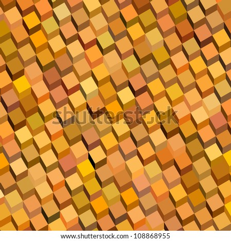 abstract orange cube pattern backdrop