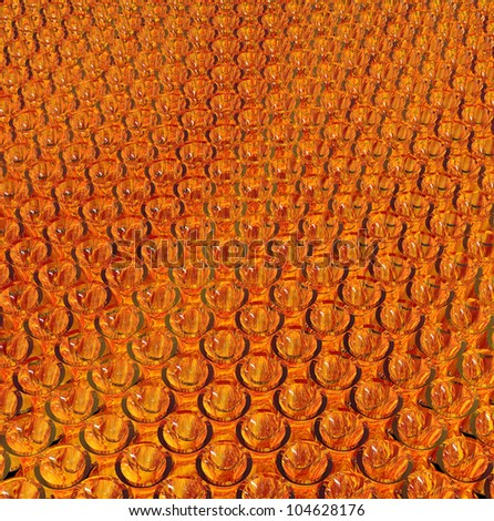 abstract orange glass background