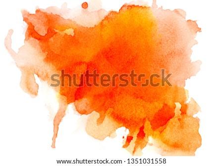 abstract orange watercolor.creative image