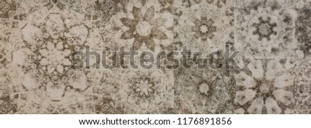 abstract oriental ornamental pattern, tile for kitchen #1176891856