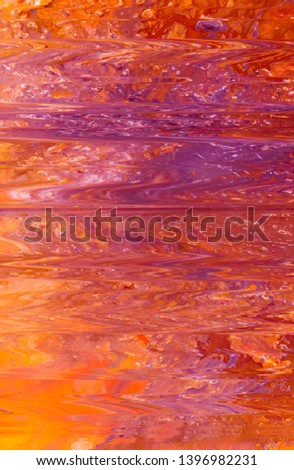 Abstract paint background. Red purple color liquid gradient. Smooth surface pattern texture similar to still water reflection.