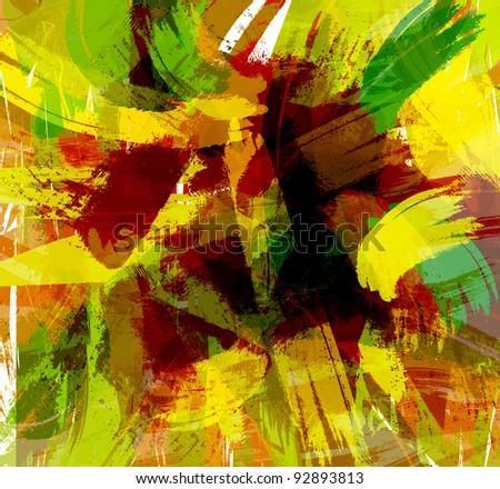 abstract paint splashes illustration.