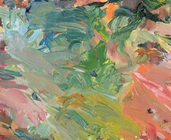 Abstract painted background. Oil painting. Daub. Artistic palette