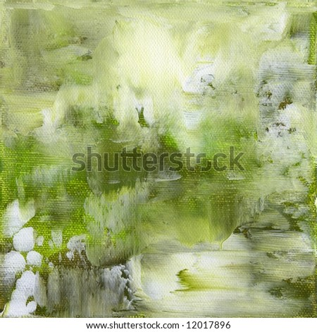 Abstract painted background with different shades of green Artwork is created and painted by myself