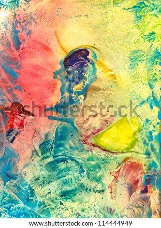 Stock Photo Abstract painted canvas