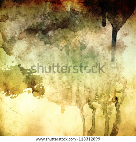 Abstract painted grunge background