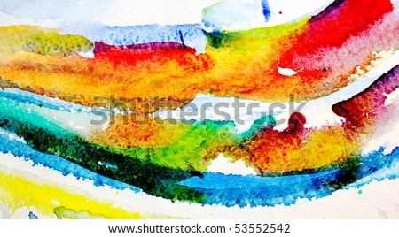 abstract painted rainbow background