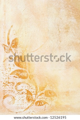 Abstract painted vintage background with patterns and scratches in natural two tones. Art is created and painted by photographer