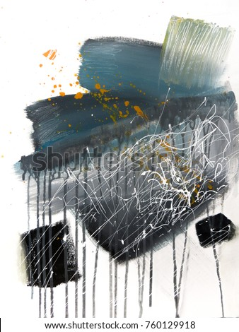 Abstract painting background. Painting on canvas.Modern art. Contemporary art