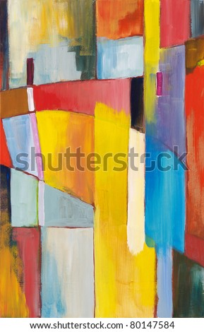 Abstract painting by Clive Watts - Bridge