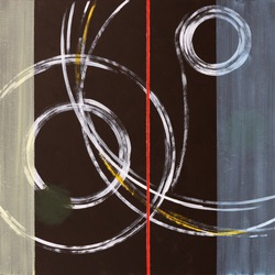 Abstract Painting by Clive Watts - Ringer #1