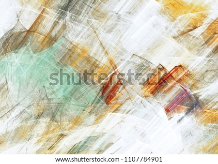 Abstract painting color texture. Soft retro artistic background. Modern multicolor dynamic pattern. Fractal artwork for creative graphic design