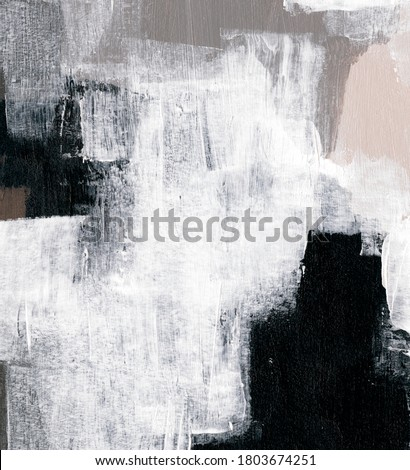 Abstract painting for creative design of posters, cards, invitations, banners, websites, wallpapers, prints and other projects. Hand painted trendy artwork. Natural colours. Contemporary art.