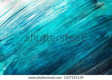 Abstract painting in shades of blue as a background