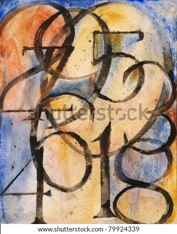 """Abstract Painting - """"0 to 9"""""""