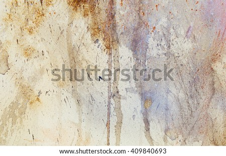 abstract painting with blurry and stained structure. metal rust effect with glitter grains
