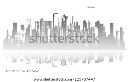 abstract panorama of the city