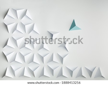 abstract paper  background concept leadership conflict Foto d'archivio ©