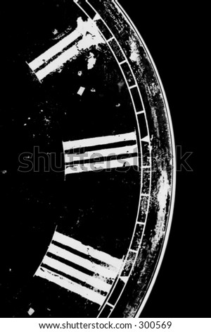 Abstract part of clock face