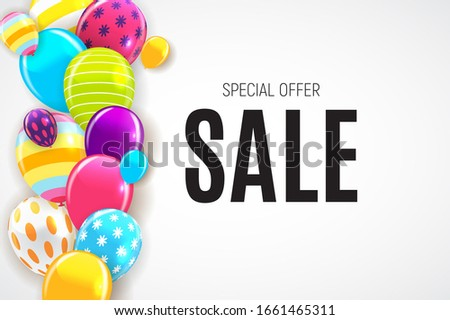 Abstract Party Sale Background. Illustration