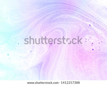 Abstract pastel marble with foam bubbles background. #1412257388