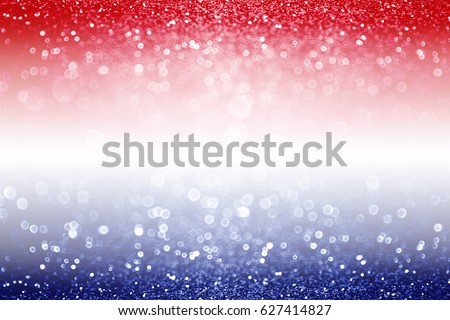 Abstract patriotic red white and blue glitter sparkle background for voting, memorials, labor day and elections