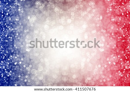 Abstract patriotic red white and blue glitter sparkle burst background #411507676