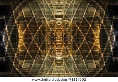Abstract pattern in shades of gold and brown