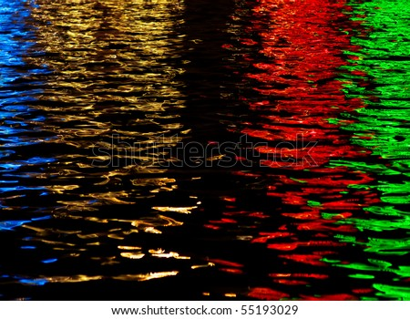 Abstract pattern of light on water. Element of design.