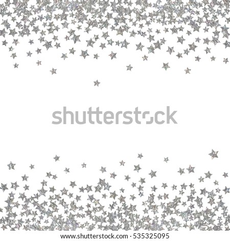 christmas wreath abstract pattern of random falling silver stars on white background elegant pattern for banner