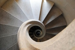 Abstract pattern of spiral stairs