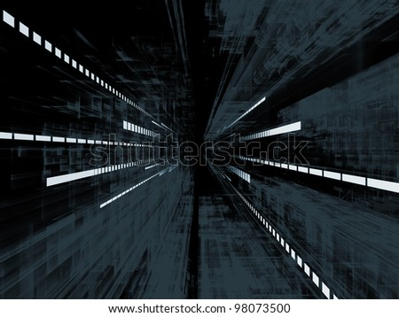 Abstract pattern of structural lines in deep perspective suitable as architectural, technological or business background
