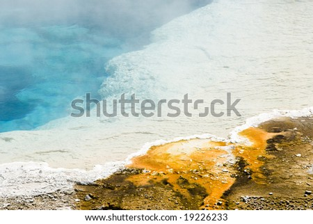abstract patterns in the thermal hot springs in Yellowstone National Park