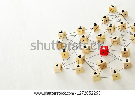 abstract photo of connectivity concept,  Linking entities, Hierarchy and HR.   #1272052255
