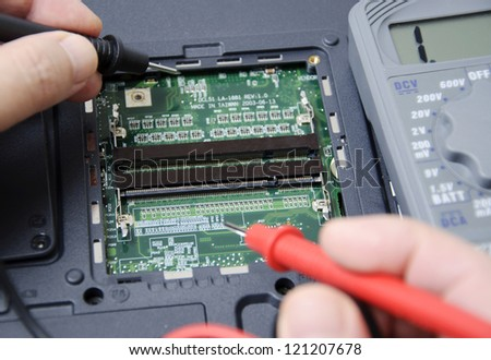 Abstract photo of laptop repair
