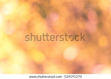 Abstract photo with orange bokeh