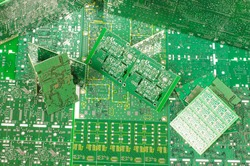 Abstract photography of different various PCBs