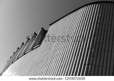Abstract Picture Architecture White Wall #1243072630