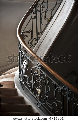 Abstract picture of tha railing of a stair Foto stock ©