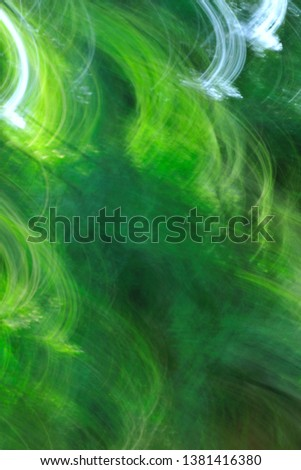 Abstract picture taken with image rotation