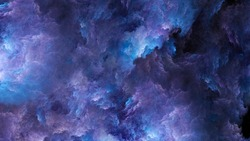 Abstract pink and blue beautiful fractal background in the form of clouds and feathers and is suitable for use in projects of imagination, creativity and design.