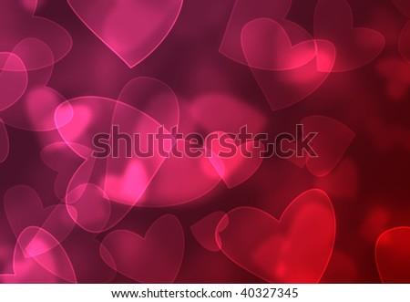 Valentine Day Bokeh Texture Set