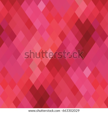 Abstract pink background from color rhombus. Colorful geometric banner