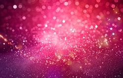 Abstract pink bokeh Christmas background. Modern simple flat  sign.  Trendy valentine decoration symbol for website design, happy new year 2017 Chinese wallpaper, wall card love Heart.