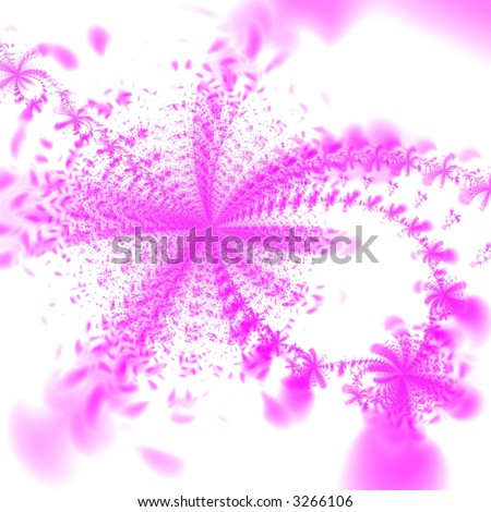 Abstract pink flowers isolated on white background - stock photo