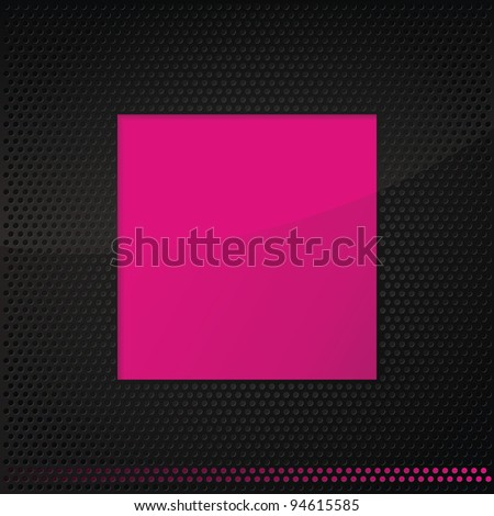 abstract pink frame on graphite technical pattern background
