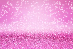 Abstract pink glitter sparkle confetti background for happy birthday party invite, Christmas winter celebration, fairy princess girl texture, falling diamond glitz, girly glam pattern, sale or wedding