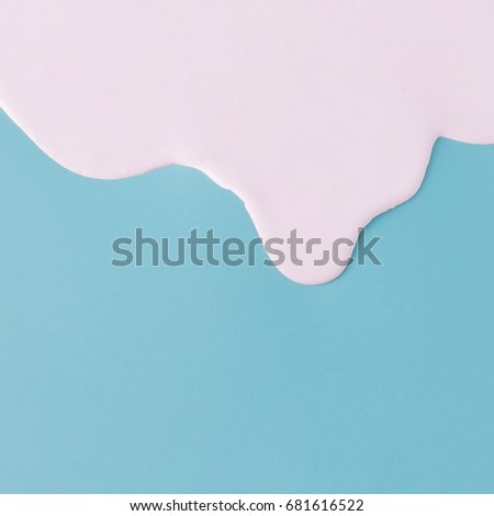 Abstract pink oil paint texture on blue canvas. Minimalistic background with copy space. #681616522