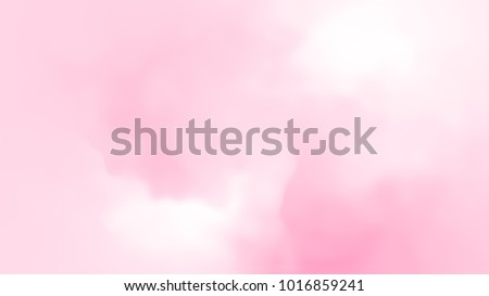 Abstract pink soft cloud background in pastel colorful gradation.  #1016859241