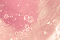 Abstract Pink water bubbles background